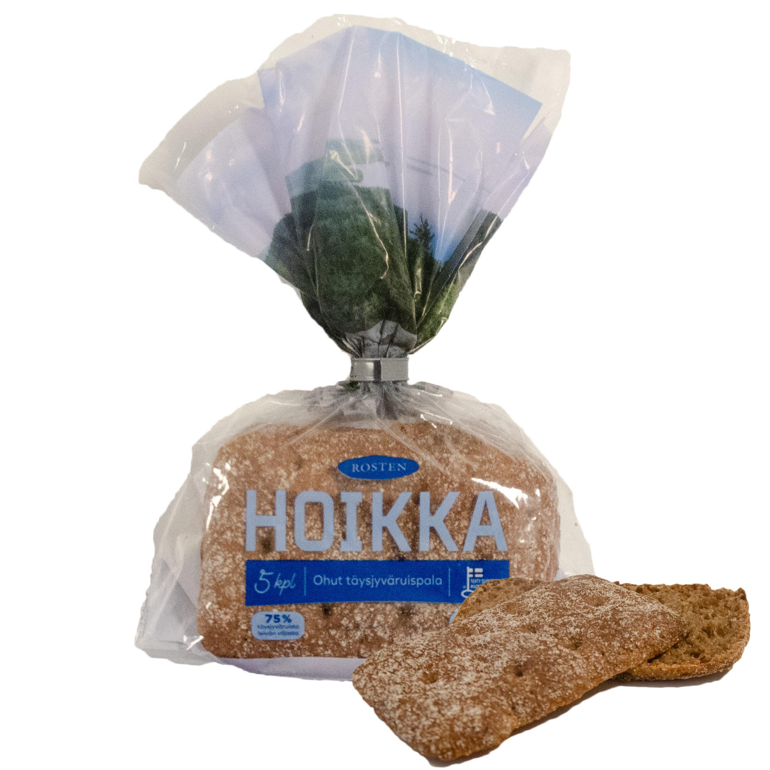 Hoikka ohut ruisleipäpala